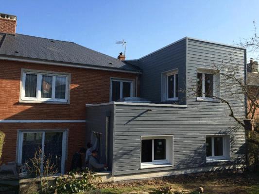 Extension en ossature bois à Arras entreprise roussel